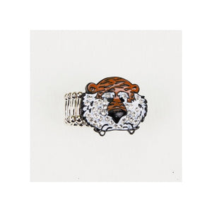 "Auburn ""Aubie"" Crystal Stretch Ring - SE Collegiate Gifts"