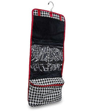 Load image into Gallery viewer, HOUNDSTOOTH TOILETRY & JEWELRY TRAVEL BAG - SE Collegiate Gifts