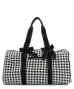 Houndstooth Duffle Bag - SE Collegiate Gifts