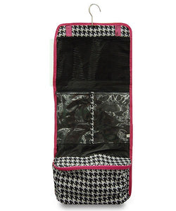 HOUNDSTOOTH TOILETRY & JEWELRY TRAVEL BAG - SE Collegiate Gifts
