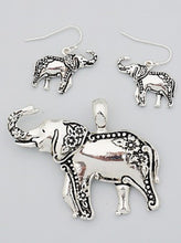 Load image into Gallery viewer, Lucky Elephant Engraved Pendant And Earrings - SE Collegiate Gifts
