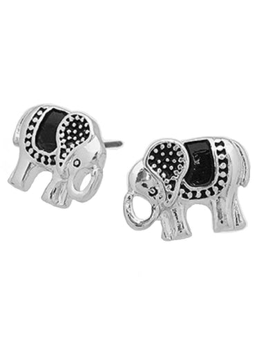 Lucky Elephant Metal Stud Earrings - SE Collegiate Gifts
