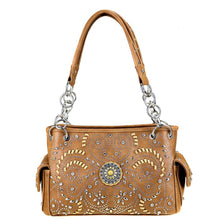 Load image into Gallery viewer, MW405G-8085 Montana West Concho Collection Concealed Handgun Satchel - Brown - SE Collegiate Gifts