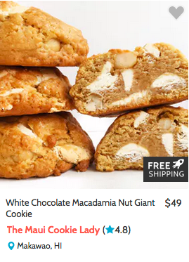 White Chocolate Macadamia Nut Giant Cookie