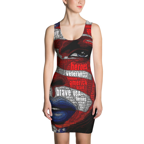U.S. Flag Girl - Sublimation Cut & Sew Dress
