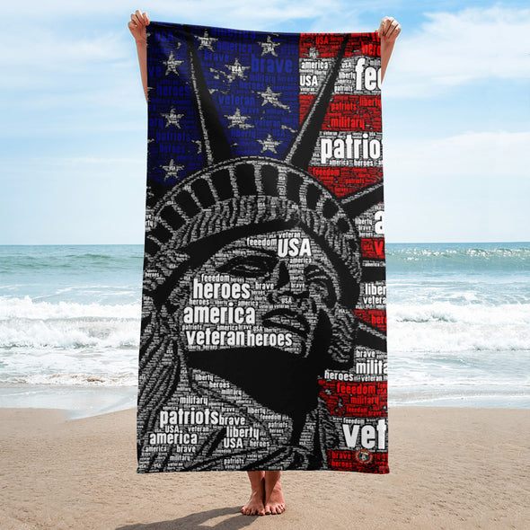 Lady Liberty - Beach Towel