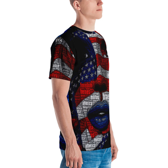 U.S. Flag Girl - Men's T-shirt