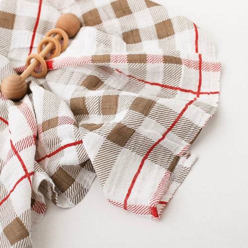 Cozy Home Plaid Swaddle