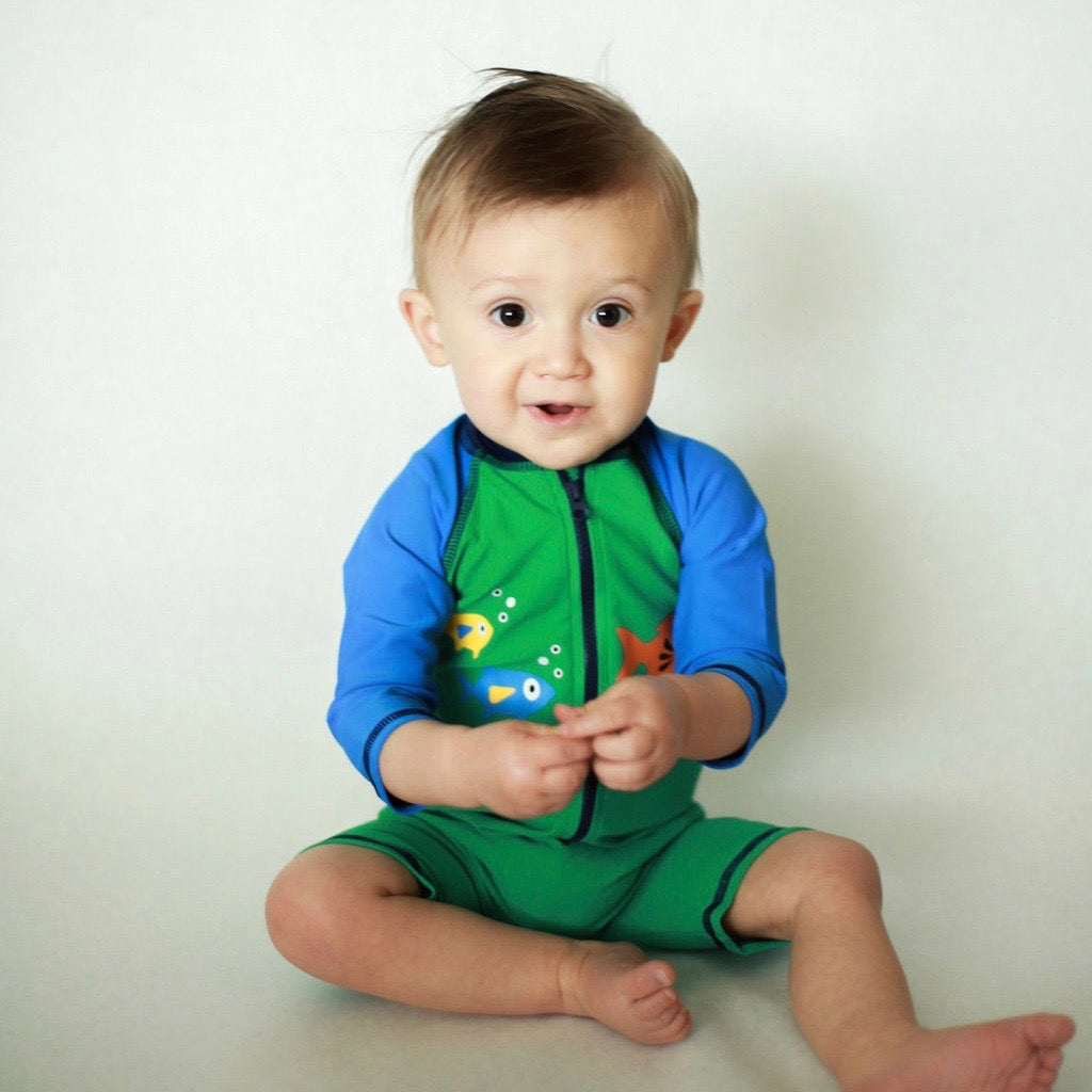 Blue/Green 'lil one Swimsuit