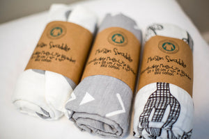 100% Cotton Muslin Swaddles