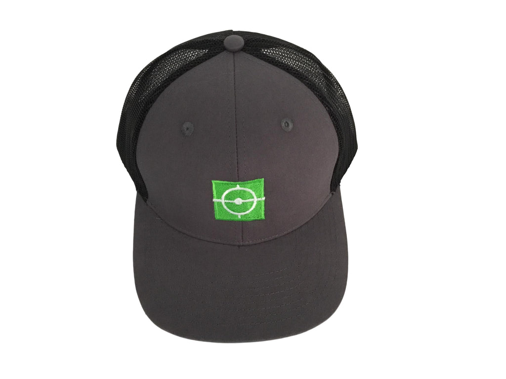 Training Sniper - Grey/Black Green Logo Hat