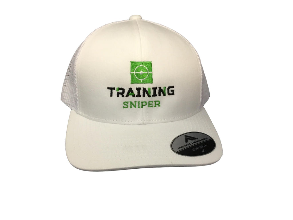 Training Sniper  - White Logo Hat