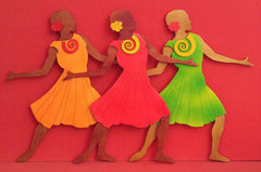 Three figure wall piece - 3x Dance 7
