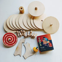 Paint n Make Spinning Top Kit to make 12 tops