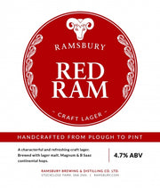 Ramsbury Red Ram Lager - SLAB of 24