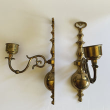 Load image into Gallery viewer, Vintage Brass Wall Candle Sticks