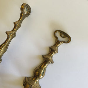 Vintage Brass Wall Candle Sticks