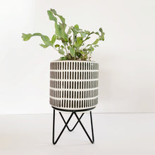 Load image into Gallery viewer, Black and White Planter with Stand