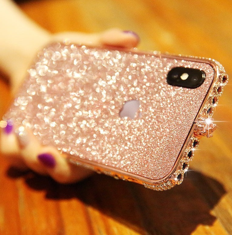 625a824945 [IPhone]Crystal bling Anti-fall border case for IPhone【Free Bling Crystal  IPhone Film】【Buy 2 FREE SHIPPING】