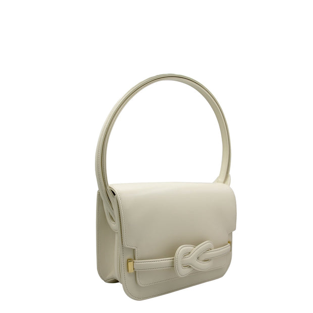 Art A2823 <br> Satchel bag in plain leather ivory <br> NEW !