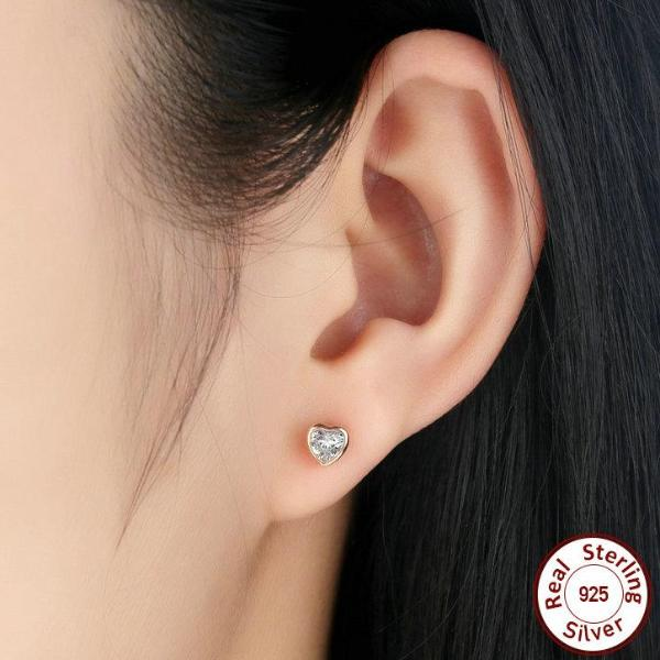 Heart Zircon Earrings