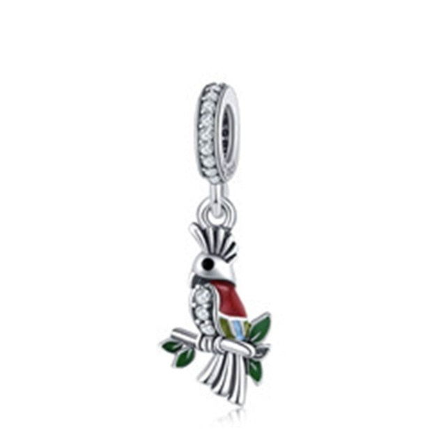 Red Parrot Charm