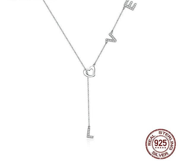 Silver Love Necklaces