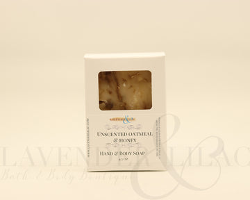 Unscented Honey & Oatmeal Bar Soap