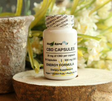 CBD Capsules Energy - 500 mg - Home Remecbdy