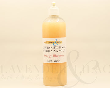 Orange Blossom Kitchen & Gardening Liquid Hand Soap