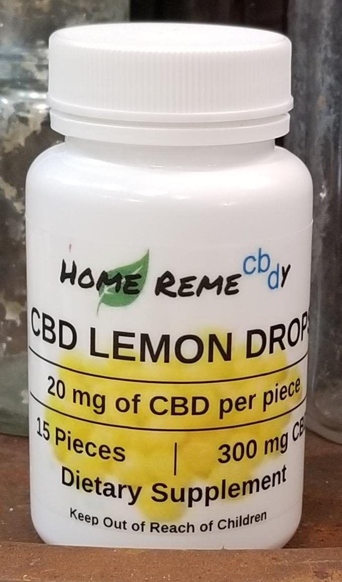 Lemon Drop Hard Candy Full Spectrum CBD - 300 mg - Home Remecbdy