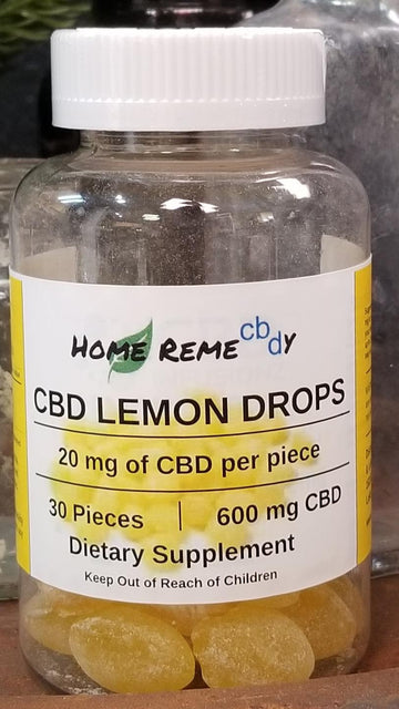 Home Remecbdy Lemon Drops CBD Hard Candy - 600 mg - Home Remecbdy