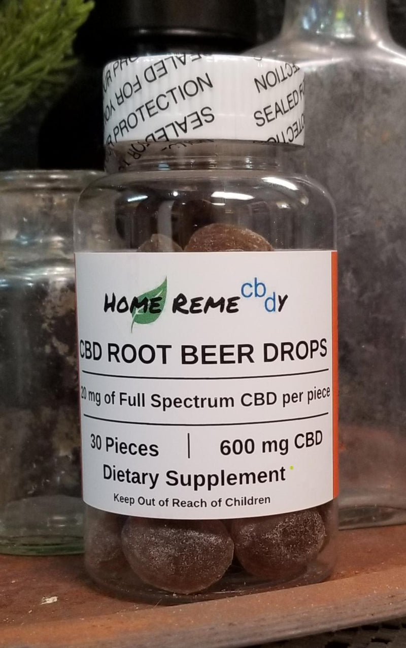 Root Beer Drop Hard Candy Full Spectrum CBD - 600 mg - Home Remecbdy