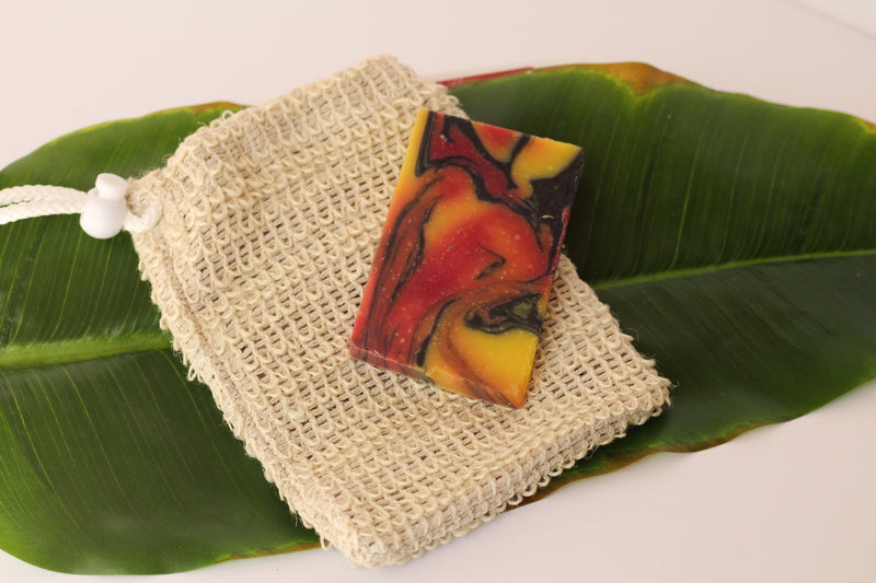 Sisal Soap Pouch Accessory - Home Remecbdy