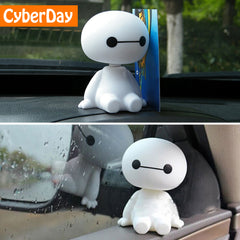 Cartoon Plastic Baymax Shaking Head Figure