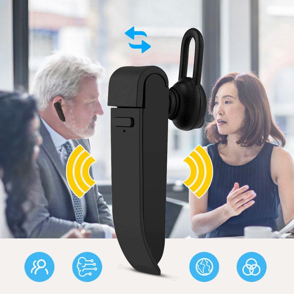Portable wearable realtime translation device