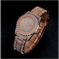 Lvpai Silver Watch Rhinestone Ceramic