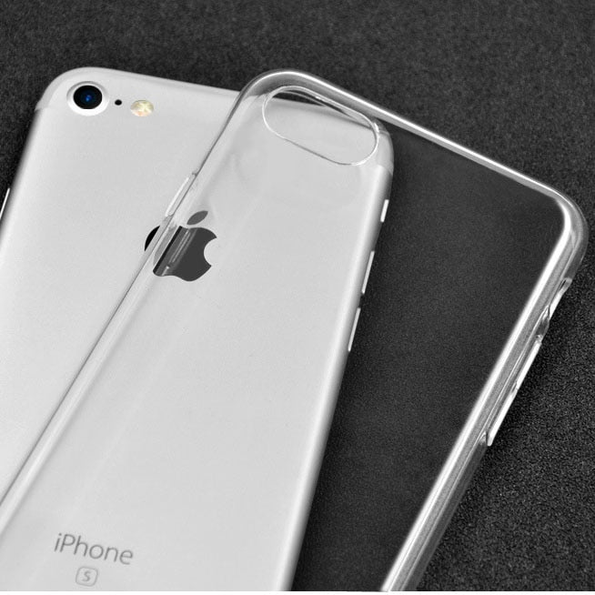10PCS/Lot Ultra Thin Anti Shock Transparent TPU Clear Soft Case For IPhone X 8 7 6 6s Plus 5s SE Ctrystal Silica Gel Cover