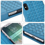 BELIAL Phone Cases For IPhone 7 Case Leather Magnetic Woven Luxury Microfiber Flip Cover For IPhone X 7 8 Plus Case Wallet Stand