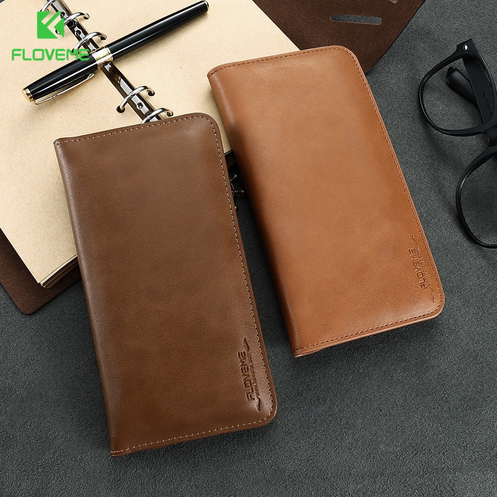 FLOVEME Leather Wallet Case For IPhone 6 6s Plus 7 7 Plus Universal Phone Pouch Bag Coque Case For IPhone 5 5s SE 6 6s Plus