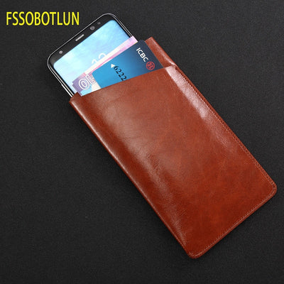 FSSOBOTLUN,For IPhone 6/6plus Case Sleeve Pouch Bag For IPhone 7 Plus Holster Handmade Protective Case For IPhone 8/8