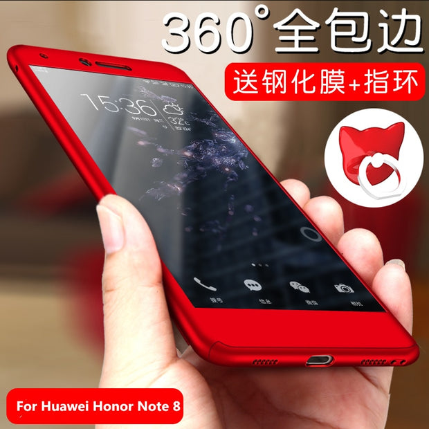 "For Huawei Honor Note 8 Case 6.6""Original 360 Degree Full Cover Luxury PC Protective Phone Back Cover For Honor Note8+Glass Film"