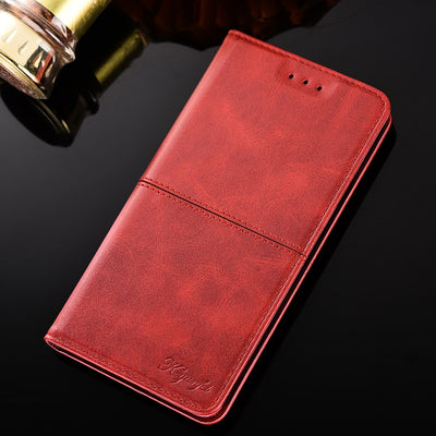 For Motorola Moto G7 Case Ultra-thin Magnetic Pu Leather Wallet Flip Stand Case Cover For Moto G7 Case 6.1 Inch