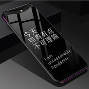 For OPPO Find X Case Cover For OPPO FindX Tempered Glass + TPU Back Cover For OPPO Find X Phone Case Shell Fundas Capas Skin
