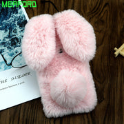 For Xiaomi Mi A2 Lite Case Redmi 6Pro 3D Cute Rabbit Hairy Warm Fur Soft TPU Case Girl Bunny Cover For Xiaomi Xiomi Mi A2 Lite