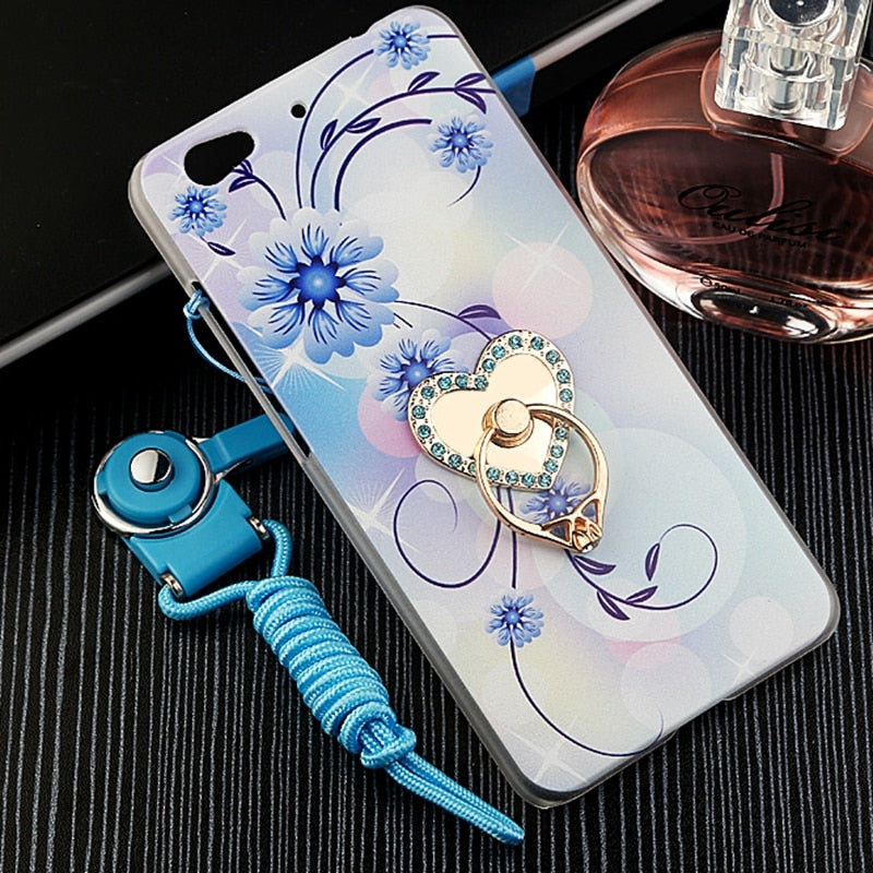 GR Olamexy PC Draw Pattern Cartoon Covers Case + Ring Holder For BLU Vivo 5 Free Shipping Mobile Phone Shell Phones Bags Caqa