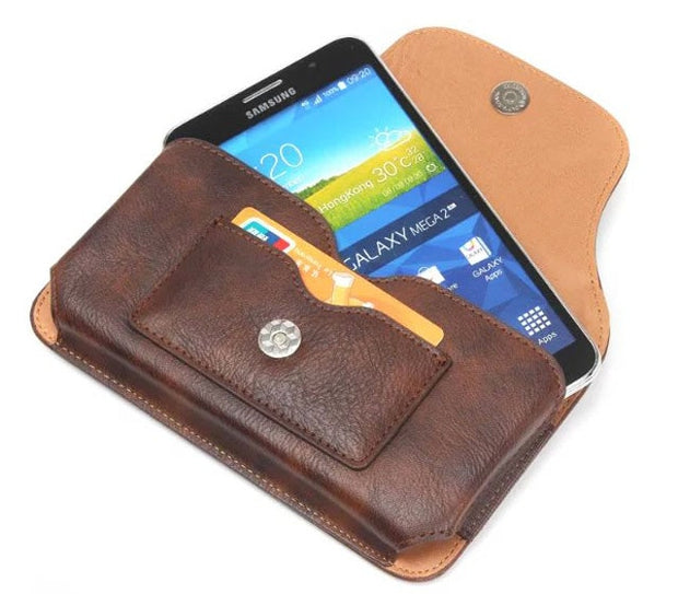 Holster Belt Clip Leather Phone Case Pouch For Motorola Moto M/E4 Plus/G5 Plus/E3 Power/G4 Plus/E3/G Turbo Edition/X Force