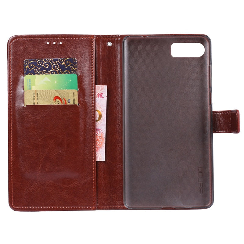 IDEWEI For Bluboo S1 Case 5.5'' Business Style Stand Flip Leather Wallet Phone Capa Cover For Bluboo S1 Case Fundas Accessories