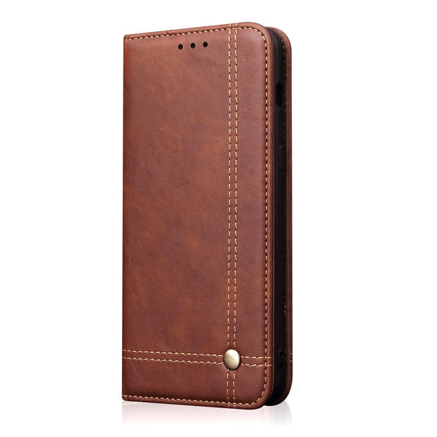 Luxury Leather Flip Unique Magnet Design Stand Case For Huawei Honor View 20 V20 Wallet Protection Cases Back Cover