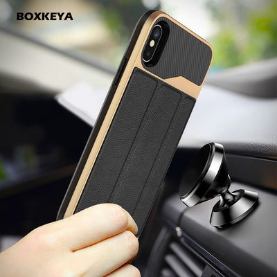 Luxury Magnetic Fold Stand Flip PU Leather Card Holder TPU Hard Armor Coque For IPhone X 6S 7 Plus 8 Plus Back Cases